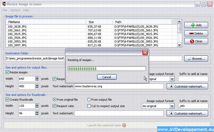 Redimensionneur full screenshot